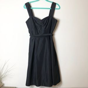 WHBM Black Fit and Flare Dress
